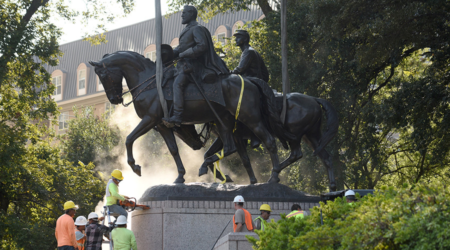 Dallas removes Confederate statue dedicated by FDR
