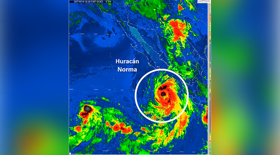 Tropical storm warning for Baja California as Hurricane Norma nears