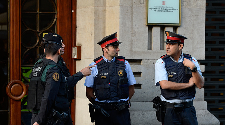 'State of siege': Catalan officials, incl. junior economy minister, arrested over referendum docs