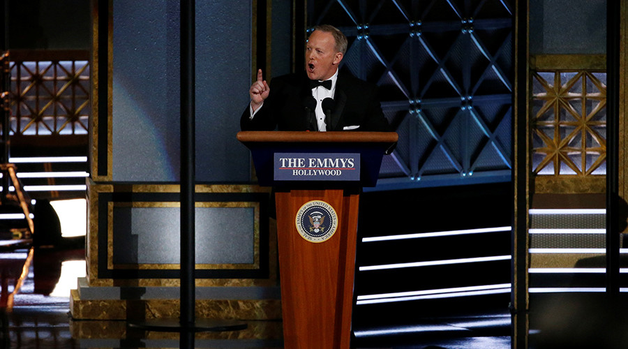 Establishment mad over Spicer's Emmys cameo… and yet exalt accomplices of Bush & Obama crimes