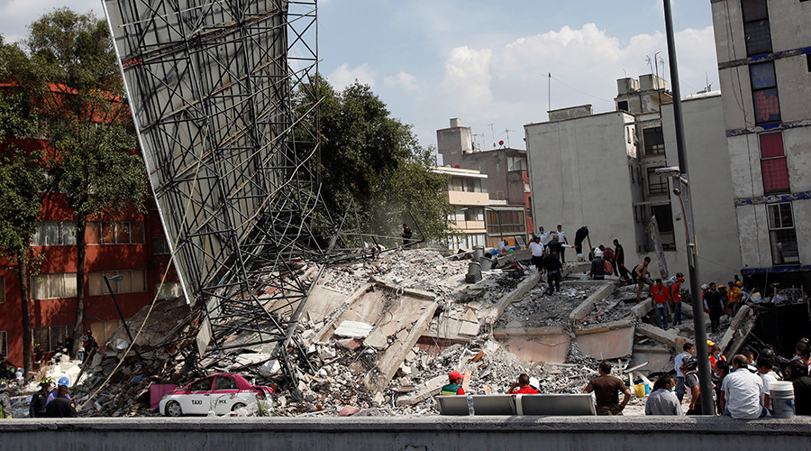 Cracks in walls, falling ceilings & evacuations amid 7.2-magnitude Mexico quake (PHOTOS, VIDEO)