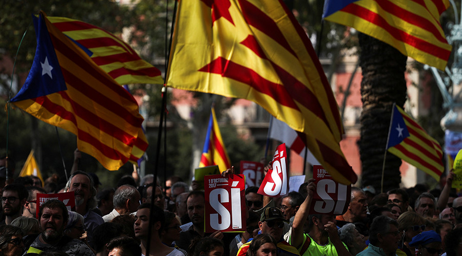 Independence-hungry Scottish nationalist leader sends support to Catalonia