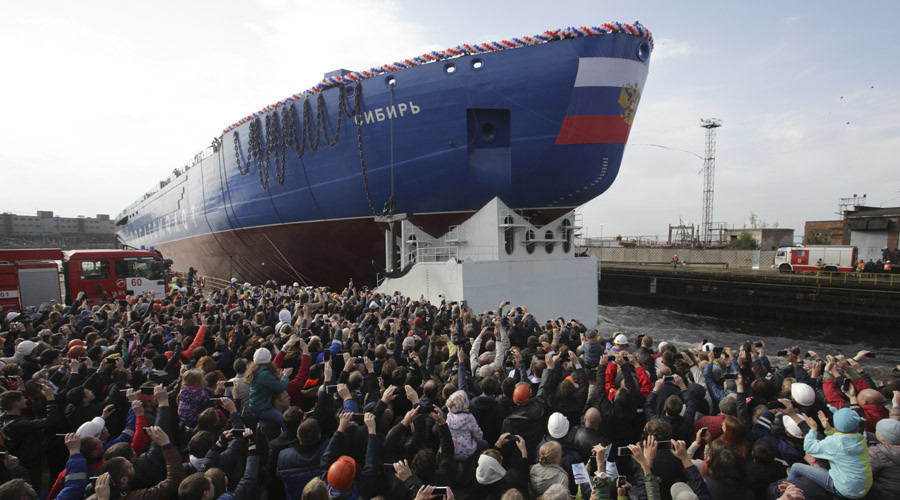 Russia launches 'world's biggest & most powerful' nuclear icebreaker