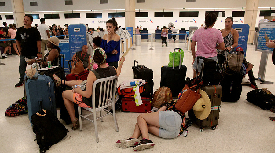 Travelers stranded at Puerto Rico airport after Hurricane Maria