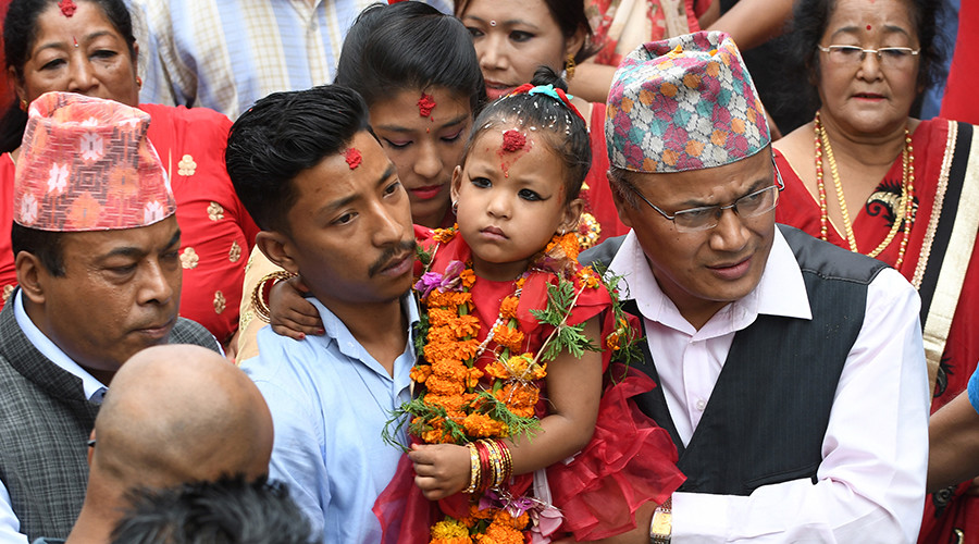 3yo named 'living goddess' in Nepal, can leave temple just 13 times a year