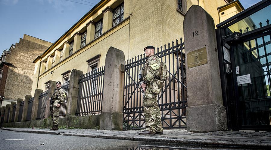 Denmark deploys armed troops on streets, German border to help police