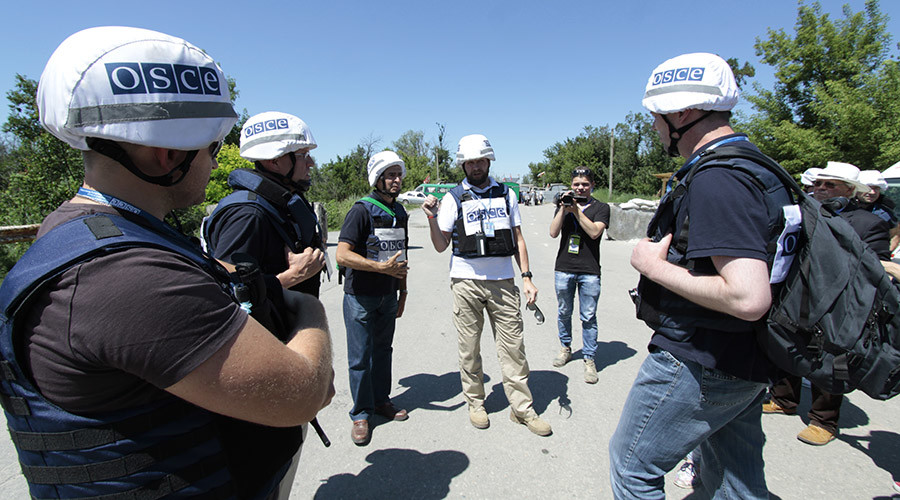 Russia's initiative on protecting SMM OSCE in the south-east of Ukraine