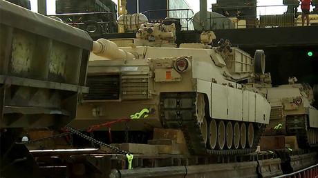M1 Abrams tanks, heavy armor arrive in Georgian port for Agile Spirit drills (VIDEO)