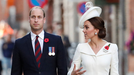 Britain's Prince William, the Duke of Cambridge and his wife Princess Kate, the Duchess of Cambridge. © Yves Herman