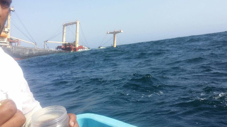 Cargo ship sinks in Arabian Sea en route from UAE, 20 sailors rescued (PHOTOS)