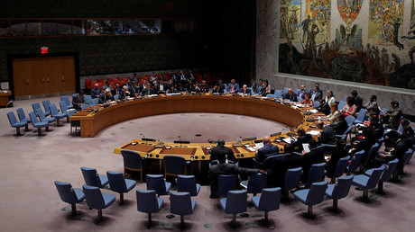 The United Nations Security Council sits to meet on North Korea after their latest missile test, at the U.N. headquarters in New York City, U.S., September 4, 2017. © Joe Penney