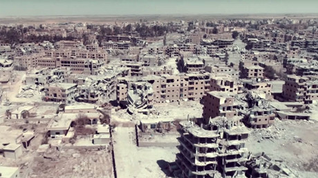 Raqqa in ruins: Drone footage of destroyed Syrian city amid continued fighting
