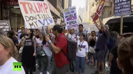 'We are Americans': Activists protest Trump's decision to end DACA