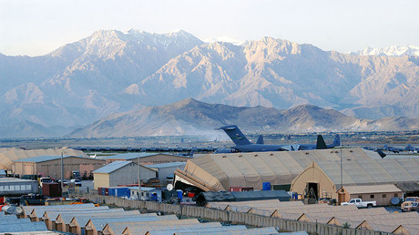 FILE PHOTO: A view of Bagram Airfield, Afghanistan from the Air Traffic Control Tower's catwalk. © Staff Sgt. Craig Seals
