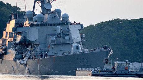The U.S. Navy Arleigh Burke-class guided-missile destroyer USS Fitzgerald © U.S. Navy