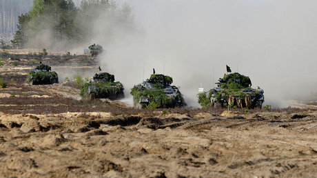 German armored infantry fighting vehicles Marder in Lithuania © Ints Kalnins