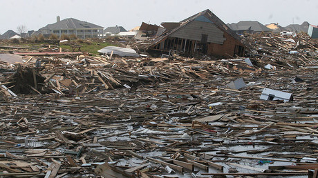 FILE PHOTO: Damaged homes and personal belongings by Hurricane Katrina, Slidell, Louisiana, US. © Robert King / Global Look Press