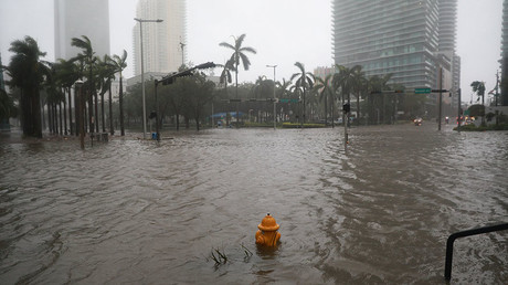 Flooding in the Brickell neighborhood as Hurricane Irma passes Miami, Florida, U.S. September 10, 2017. © Stephen Yang