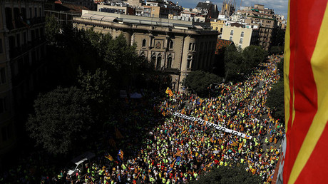 1mn Catalans mark national day with massive pro-independence march in Barcelona (PHOTOS, VIDEOS)