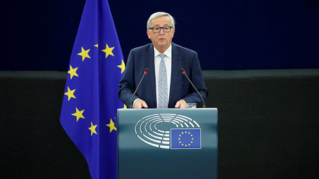 European Commission President Jean-Claude Juncker addresses the European Parliament during a debate on The State of the European Union in Strasbourg, France, September 13, 2017. © Christian Hartmann