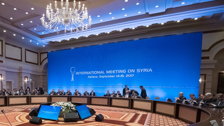 Meeting of the joint group on Syrian settlement at the international talks in Astana.