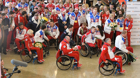 Members of the Russian Paralympic team © Alexander Vilf