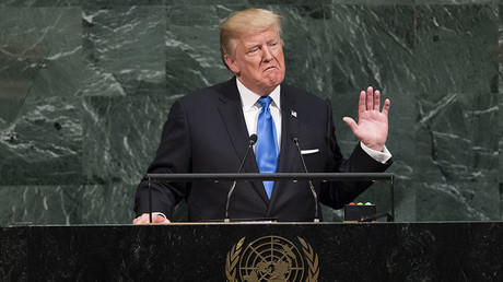 US President Donald Trump addresses the 72nd Annual UN General Assembly in New York on September 19, 2017 © Timothy A. Clary / AFP