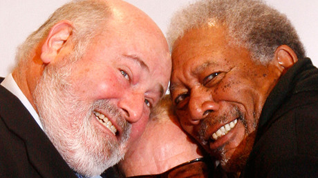 FILE PHOTO: Morgan Freeman (R) and director Rob Reiner © Tobias Schwarz