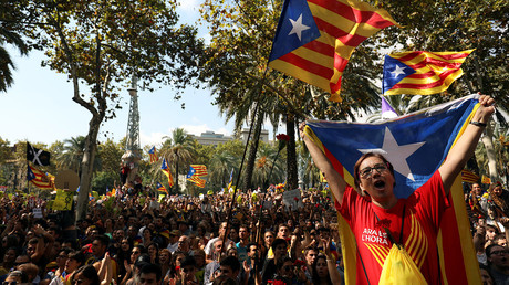 'We will vote!' Thousands protest Catalonia independence referendum ban