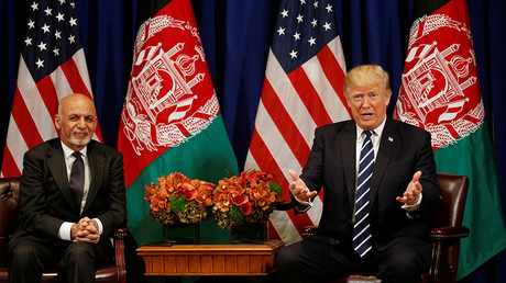 U.S. President Donald Trump and Afghan President Ashraf Ghani. ©Kevin Lamarque