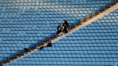 Saudi Arabia allows women into sports stadium for 1st time