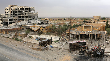 Outskirts of Deir Ezzor September 24, 2017. © AFP