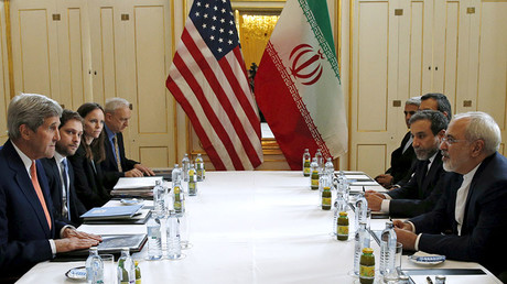 FILE PHOTO: U.S. Secretary of State John Kerry meets with Iranian Foreign Minister Mohammad Javad Zarif on what is expected to be