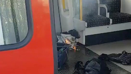 Scurrying for safety: Footage shows terrified London commuters after 2017 tube blast (VIDEO)