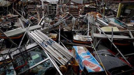Damages are seen in a supermarket after the area was hit by Hurricane Maria in Guayama, Puerto Rico September 20, 2017 © Carlos Garcia Rawlins