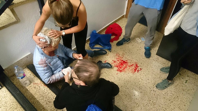 Catalonia: Shocking videos capture police violence against voters as hundreds injured in crackdown