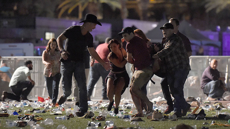 Footage with sound of multiple gunshots from music concert at Las Vegas Casino