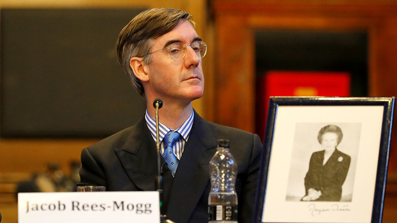 Unfortunate photo of Jacob Rees-Mogg emerges after spat with anti-Tory protester