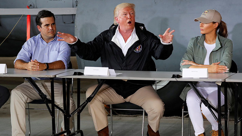 'You can be very proud': Trump praises hurricane relief in Puerto Rico