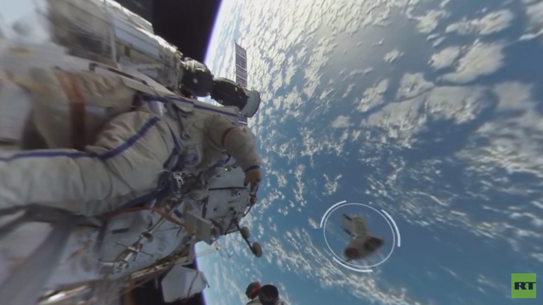 Spacewalk 360: RT releases first-ever panoramic video of man in outer space (VIDEO)