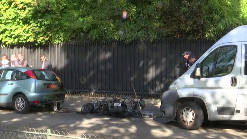 Motorbike explodes outside Jordanian military attache building in Paris
