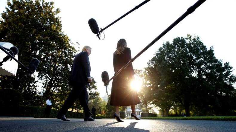 Trump urges Senate to probe American 'Fake News Networks'