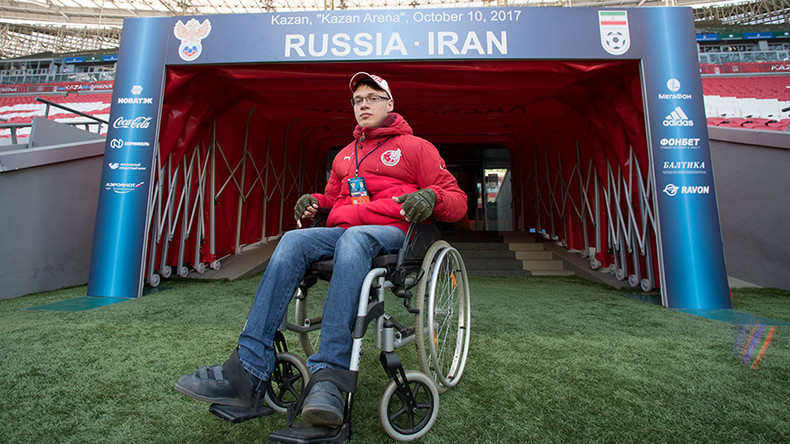 'Great news!' – Disabled fan made reporter for Russia v Iran game