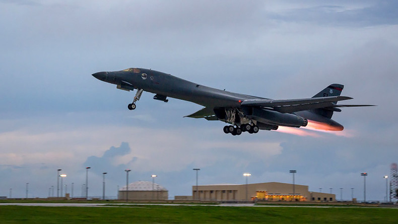 2 US B-1B strategic bombers conduct firing drills with South Korea & Japan