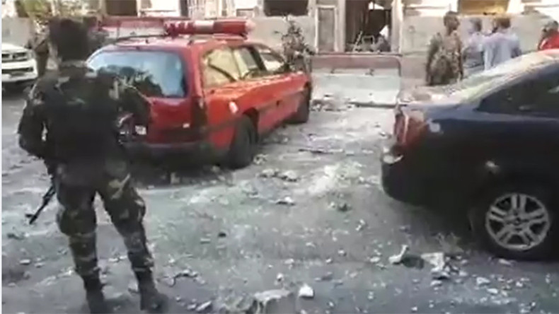 3 suicide bombers detonate explosives near police station in Damascus – authorities
