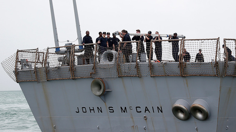 Navy punishes McCain captain over collision that killed 10 sailors