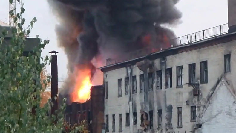 Massive fire erupts at abandoned Moscow factory (PHOTOS, VIDEO)