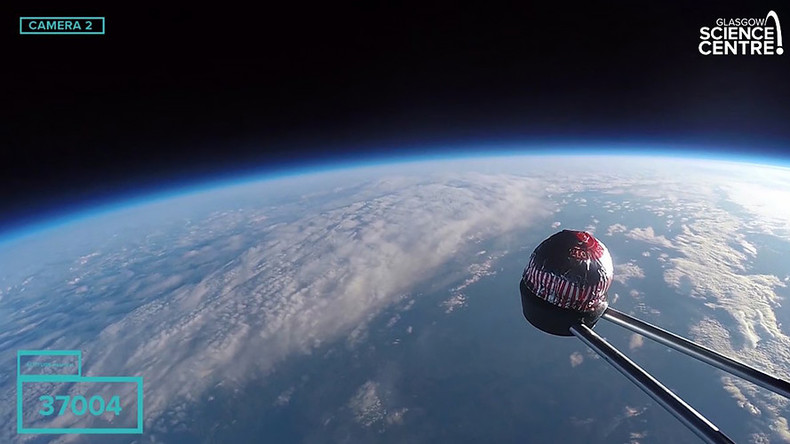 Cakes in space: Scientists launch sweet treat 120,000ft in the air (VIDEO)