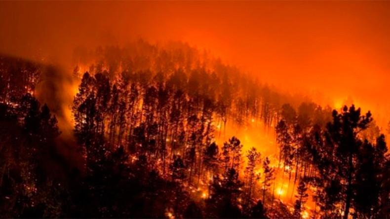Raging wildfires kill 2, trigger panic & evacuations in Galicia, Spain (PHOTOS, VIDEOS)