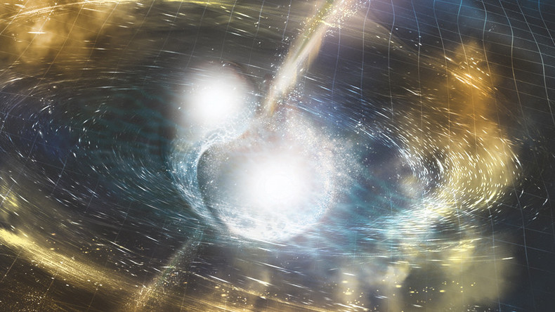 Spectacular neutron star crash stretched space time by fraction of an inch (VIDEOS)
